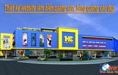 Thiết kế website làm biển quảng cáo, bảng quảng cáo đẹp