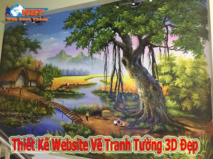 công ty thiết kế website vẽ tranh tường 3d đẹp chuyên nghiệp uy tín