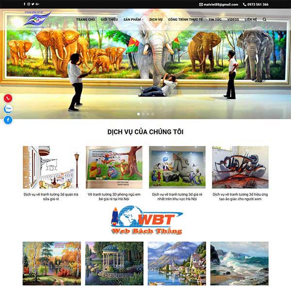Dịch vụ thiết kế web vẽ tranh tường 3d chuyên nghiệp chuẩn seo