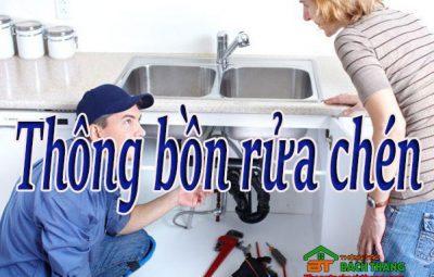 Thông bồn rửa chén home care
