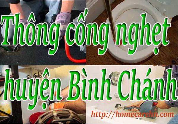 Thông cống nghẹt tại huyện Bình Chánh giá rẻ, uy tín BT homecare