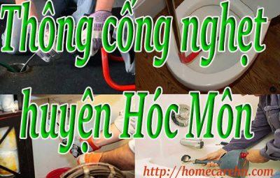 Thông cống nghẹt huyện Hóc Môn giá rẻ BT homecare