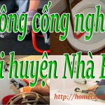 Thông cống nghẹt tại huyện Nhà Bè giá rẻ, máy lò xo – BT homecare