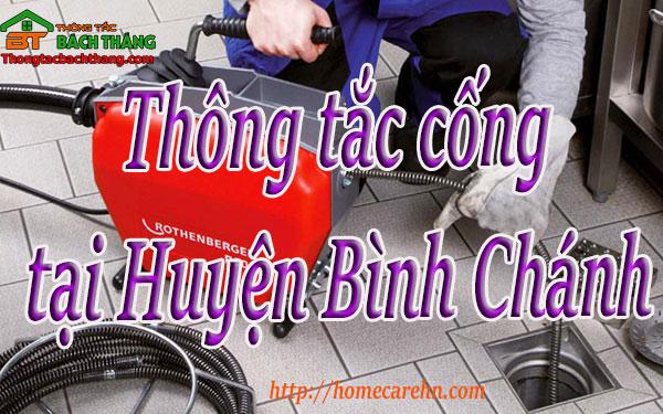 Thông tắc cống tại Huyện Bình Chánh giá rẻ, BT homecare