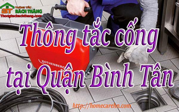 Thông tắc cống tại Quận Bình Tân giá rẻ BT homecare