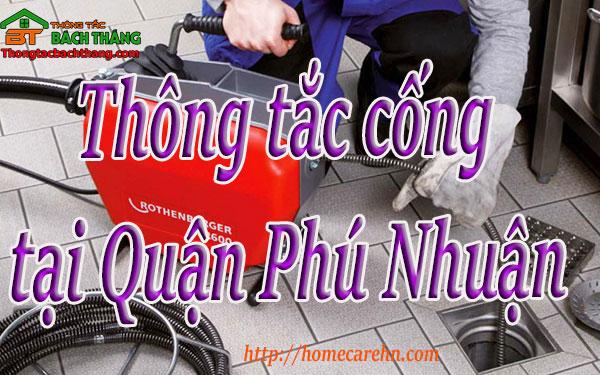 Thông tắc cống tại Quận Phú Nhuận giá rẻ, bt homecare