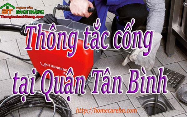 Thông tắc cống tại Quận Tân Bình giá rẻ, BT homecare
