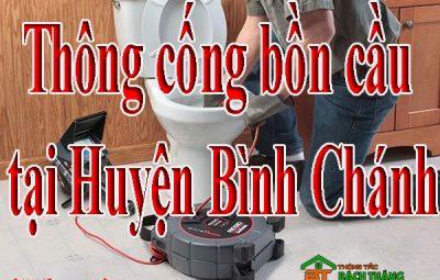 Thông cống bồn cầu tại Huyện Bình Chánh giá rẻ BT homecare