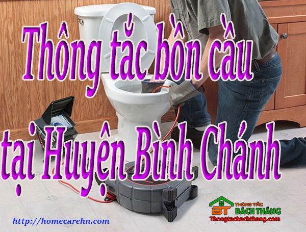 Thông tắc bồn cầu tại Huyện Bình Chánh giá rẻ BT homecare