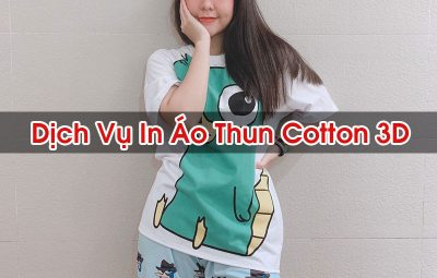 In Áo Thun Cotton 3D