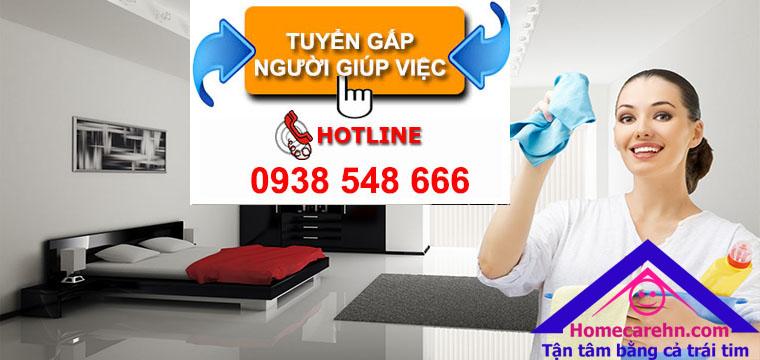 Tuyển gấp người giúp việc gia đình, sinh viên giúp việc theo giờ đi làm ngay tại Hà Nội