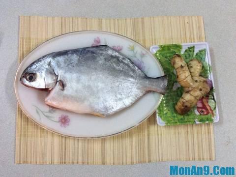 Nguyên liệu đơn giản khi làm món cá chim kho riềng
