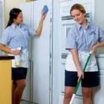 Văn phòng sạch đẹp dưới bàn tay của cô giúp việc